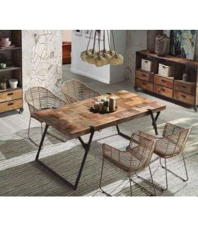 Comprar online Mesa de salón comedor de estilo industrial Colección PURE