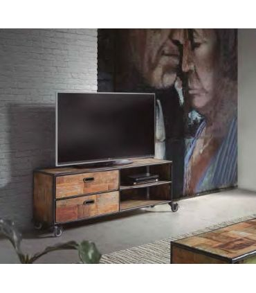 Mesa de Televisión de estilo Industrial Colección PURE