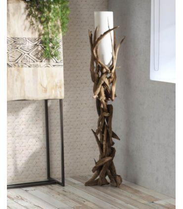 Lámpara de Pie de raíces naturales modelo VILLA
