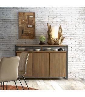 Comprar online Mueble Aparador de teka reciclada y metal colección FENDY