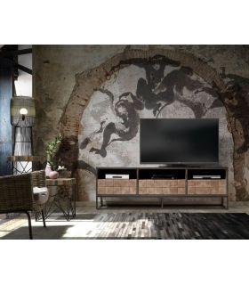 Comprar online Mesa de televisión de teka y acacia Colección LATI