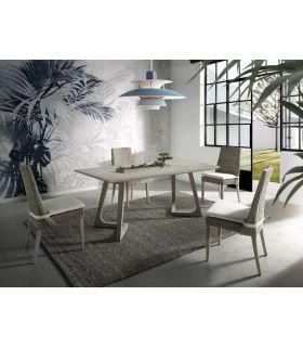 Comprar online Mesa de Salón Comedor en madera de Mango SKIVA