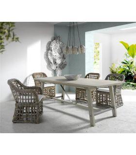 Comprar online Mesa de Salón Comedor en madera de Mango YURI