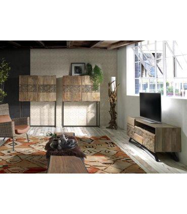 Mesa de televisión de estilo Étnico Colección INDY-TATTOO