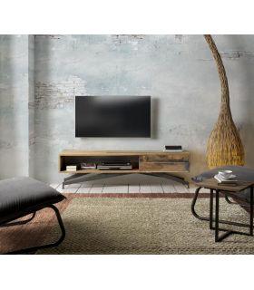 Comprar online Mesa de Televisión de madera reciclada Modelo BATIK-HALLS