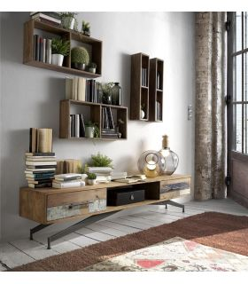 Comprar online Mueble de Televisión de madera reciclada Modelo BATIK-HALLS