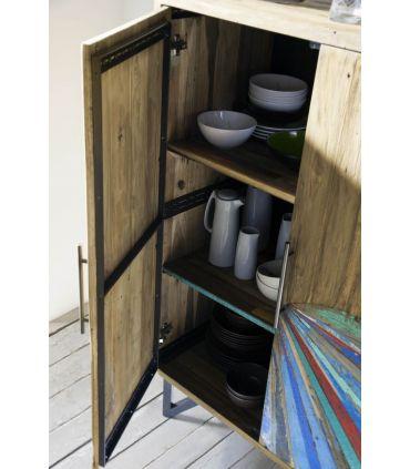 Mueble Auxiliar de madera reciclada modelo BATIK