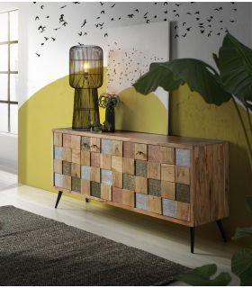Comprar online Aparador en madera de Acacia Colección NAC Grande 3 Puertas