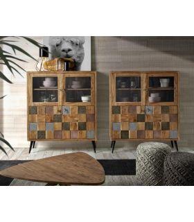 Comprar online Vitrina Taquillón en madera de Acacia Colección NAC