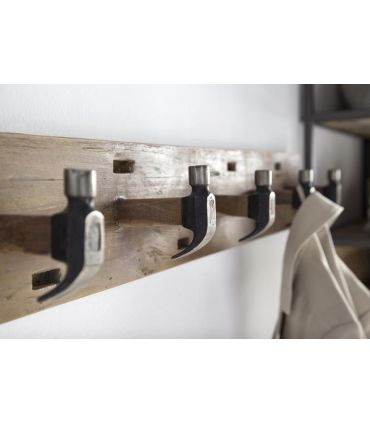 Perchero de pared de estilo Industrial Colección HOME Martillos