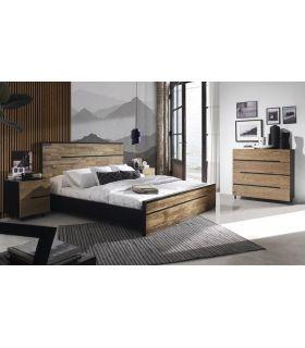 Comprar online Cama de madera reciclada de Teka colección AVANA
