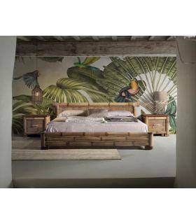 Comprar online Cama Colonial en Madera de Bambu : Modelo NAKO