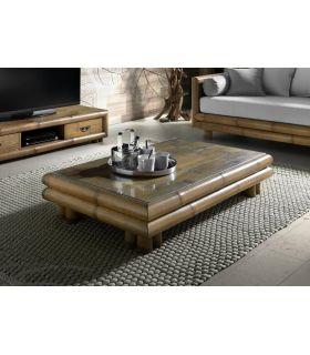 Comprar online Mesa de centro de Bambu : Modelo TSU Rectangular