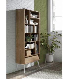 Comprar online Estantería en madera natural de teka Colección FUSIÓN