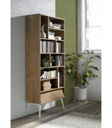 Estantería en madera natural de teka Colección FUSIÓN