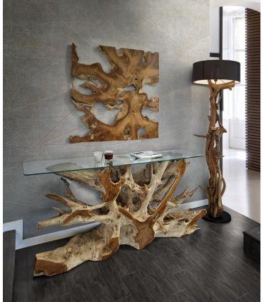 Cuadro decorativo en madera de teka Colección NAGA