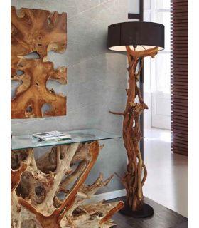 Comprar online Lámpara de Pie de raices naturales de teka modelo BLUMA