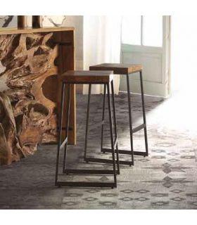 Comprar online Taburete en madera de teka y metal modelo EZIO