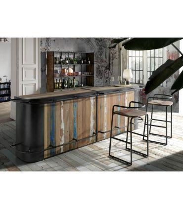Barra de Bar de estilo industrial Modelo SYMBIOZ Doble