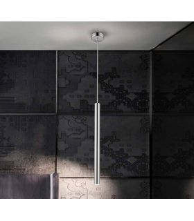 Comprar online Colgante luz led dimable colección VARAS 1L. Cromo. Schuller