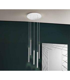 Comprar online Lámpara de Techo colección VARAS 5L Dimables Cromo/Blanca Schuller