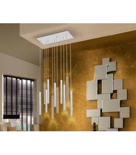Comprar online Lámpara de Techo colección VARAS 11L Dimables Oro/Blanca Schuller