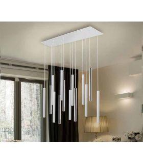 Comprar online Lámpara de Techo colección VARAS 14L Dimables Cromo/Blanca Schuller
