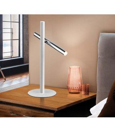 Lámpara de Mesa colección VARAS 2L Cromo/Blanco Schuller
