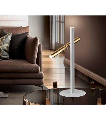 Lámpara de Mesa colección VARAS 2L Oro/Blanco Schuller
