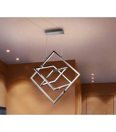 Lámpara de aluminio cromado colección CUADROS 3L Schuller