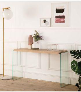 Comprar online Consola de Diseño moderno en cristal templado y madera SYDNEY