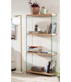 Comprar online Estantería de cristal templado y madera Colección SYDNEY GR