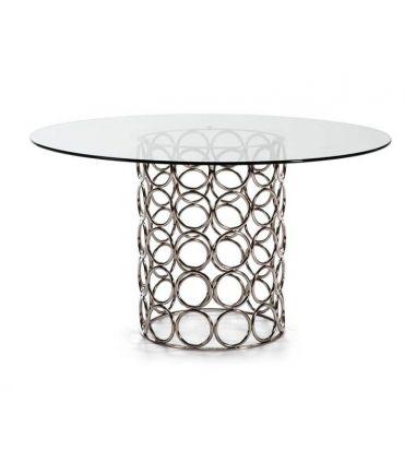 Mesa de salón comedor de acero Modelo ERANDIO