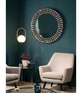 Comprar online Espejo redondo con marco de cristal modelo CORONA GR