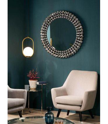 Espejo redondo con marco de cristal modelo CORONA GR