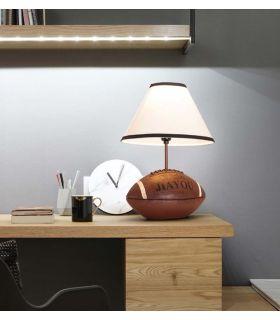 Comprar online Lámpara de mesa con base de Balón de Rugby SUPER BALL