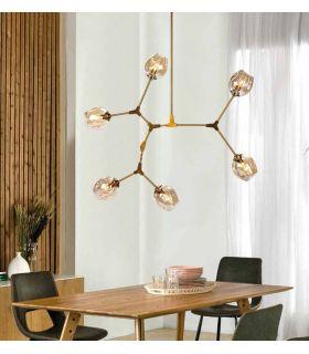 Comprar online Lámpara de techo de metal y cristal modelo ORGANIC 6 Luces
