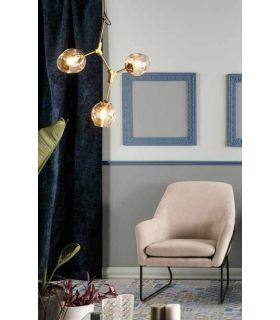 Comprar online Lámpara de techo de metal y cristal modelo ORGANIC 3 Luces