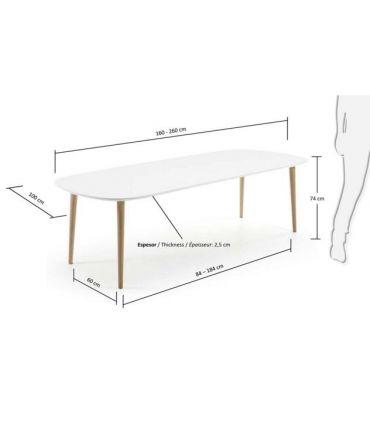 Mesa Extensible de estilo Nórdico : Modelo OAKLAND
