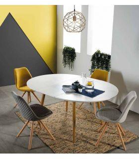 Comprar online Mesa redonda extensible de estilo nórdico SUECIA