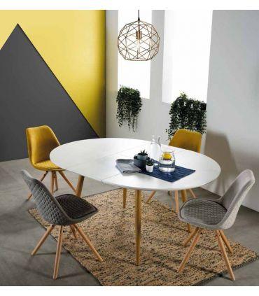 Mesa redonda extensible de estilo nórdico SUECIA