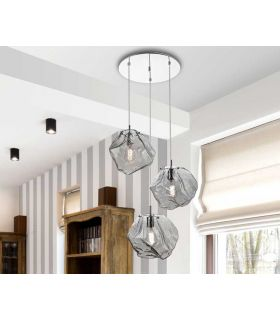 Comprar online Lámpara de 3 Luces Colección PETRA Redonda