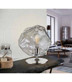 Comprar online Lámpara de mesa con tulipa de cristal Colección PETRA