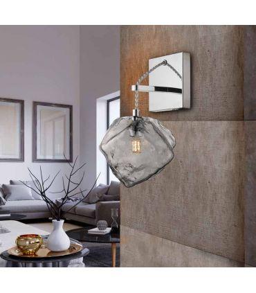 Aplique de pared con tulipa de cristal Colección PETRA