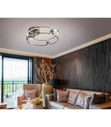 Plafón de techo moderno con luz LED Colección COLETTE Cromo