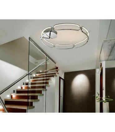 Plafón de techo con luz LED Colección COLETTE Grande Cromo
