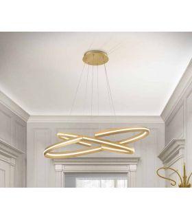 Comprar online Lámpara moderna con luz LED Modelo ELIPSE Oro GR