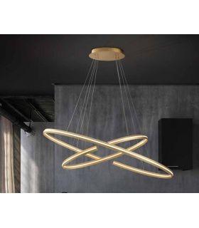 Comprar online Lámpara moderna con luz LED Modelo ELIPSE Oro PQ