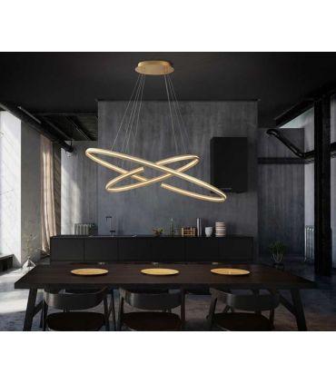 Lámpara moderna con luz LED Modelo ELIPSE Oro PQ