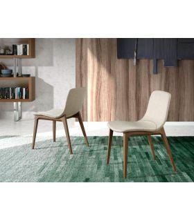 Comprar online Silla de comedor tapizado con patas de madera MERCIA